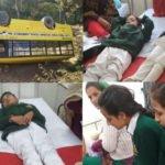 हिमाचल में फिर पलटी स्कूल बस, इतने विद्यार्थी हुए जख्मी-Panchayat Times