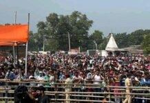 बिहार चुनाव : विधानसभा चुनाव में उड़ रही है सोशल डिस्टंसिंग की धज्जियां